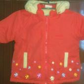 Детская курточка на малышку, р 80-86