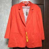 Редкий размер! Фирменный новый трикотажный пиджак р.28-32