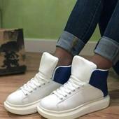 Супер стильные высокие ботинки - кроссовки. 37р