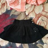 Черная вельветовая юбка, пышная, состояние отличное