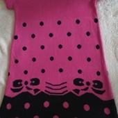 Теплое и нарядное платье-туника, на рост 128-134