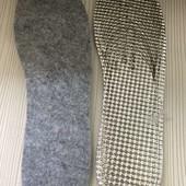 Термостельки для обуви.Обрезные.фетр+фольга.36-47рр