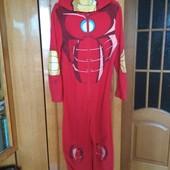 Флисовый слип,пижама,кигуруми ,ромпер Железный Человек 9-10 лет