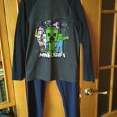 Пижама Майнкрафт,Minecraft,коттон,8-10 лет