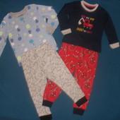 Новые! Пижамные наборы 2-4г, сток Англия, качество супер! сине-красный