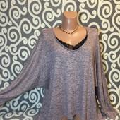 Мягенький, модный свитерок Chicoree с удлинённой спинкой для пышненьких девушек .