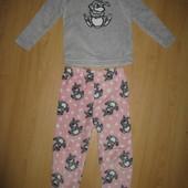 Отличное состояние!Теплющая пижама меховушка, костюм домашний!3-4 г и р 104-110 см!