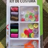 Фирменный Набор для творчества Kit de costura. 57цветных пуговиц