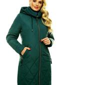 Женская демиезонная куртка Rolana Престиж Изумруд 60 размера