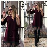 Асимметричное платье 42-52р