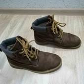 Нубук /зимние ботинки /Ultratex/38-39размер!!!