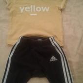 Симпатичный наборчик,штанишки+футболочка,состояние хорошее,р.62-68 на 3-6 месяцев