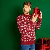 livergy.классный теплый новогодний свитерок М 48/50
