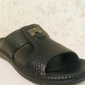 Фирменные мужские шлепки легкие пена эва, черные 41р' 27 см