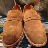 Замшевые мужские классические туфли Grenson 43/42(27)