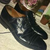 Мужские чёрные классические туфли из натуральной кожи размер 10,5. 45