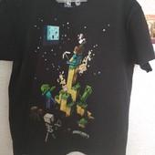 Футболка Minecraft,Майнкрафт ,8-9 лет,коттон,хорош.сост.