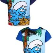 Фирменная футболка Смурфик р 4, 104 р Бирки упаковка