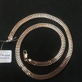 Шикарная широкая цепочка,красивое плетение,позолота 585 пробы,ширина 8мм,длина57см
