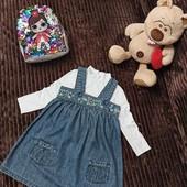 Шикарный комплект для малышки сарафан George и водолазочка 3-5 лет