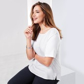 Стильная блуза с тканой вставкой от Tchibo(Германия), размеры наши: 54-56 (48/50 евро)