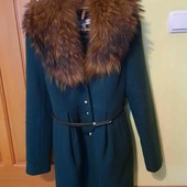 Пальто кашемірове,ковнір натуральний