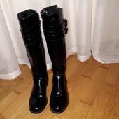 демисезонні лакові чобітки graceland  26см