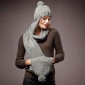 Шапка-шарф-муфта 3 в 1 TCM Тchibo(Германия) , размер универсальный