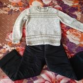 Тёплый свитерок+ штаны на флисе. Состояние идеал