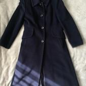 Шерстяное брендовое пальто размер 10