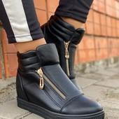 Женские ботинки-сникерсы