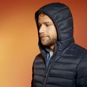 ❤️Livergy Германия❤️стильная стеганая куртка с капюшоном, отличный пуховик 90% пух 10% перо р.56