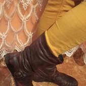 брендовие качествение полу сапоги натуральна мягкая кожа очень лёгкие на ногах
