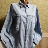 Собираем лоты!!джинсовая рубашка, размер L-xl