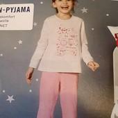 Піжамка на дівчинку, бренд lupilu , германія.розмір 110 116