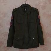 Стильная легкая куртка , хаки , вышивка , милитари ! УП скидка 10%