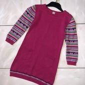 Стоп! ❤ Теплое Фирменное Трикотажное платье для девочки3-4 года❤Собирайте лоты,экономьте на доставке