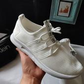 ***Последние*** Стильные белые мужские кроссовки с полосками, размер на выбор, новые