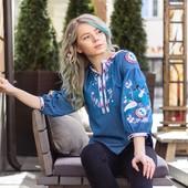 Очень стильная и приятная к телу вышиванка на летнем джинсе.Легенька вишиванкаВишиванка Барви