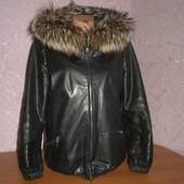 продам кожаную курточку с мехом чернобурки