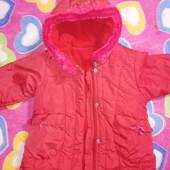 Куртка-пальто для девочки 1-2 лет