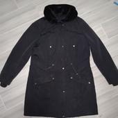 Теплое пальто размер М замеры на фото