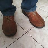 Утемляемся! Шикарные фирменные , кожанные туфли Clark's, утепленные трикотажем 30 см