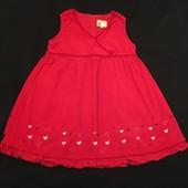 Платье микровельвет с сердечками 3-4, 104