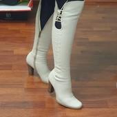 Шикарные кожаные ботфорты, р. 36 -37 на стопу 24+-