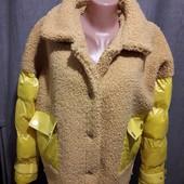 Дорогая куртка, спереди ткань букле.