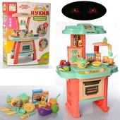 детская кухня с посудой свет/звук