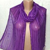 Шикарный нарядный яркий шарф палантин мягусенький 180/30 Новый Акция читайте