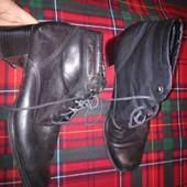 Кожаные на флисе, ботинки на 28см