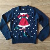Новогодний свитерок Снегурочка 110-116 рост